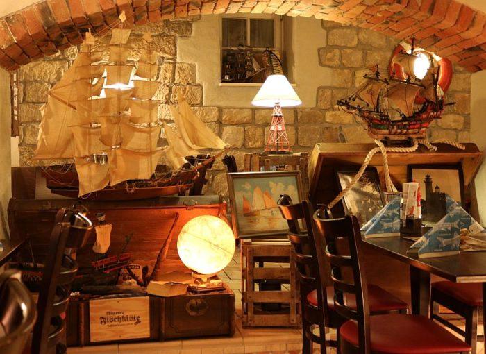 Die Innenausstattung des Schwindts im Kellergewölbe